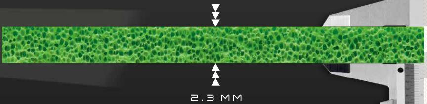 スポンジの幅2.3mm